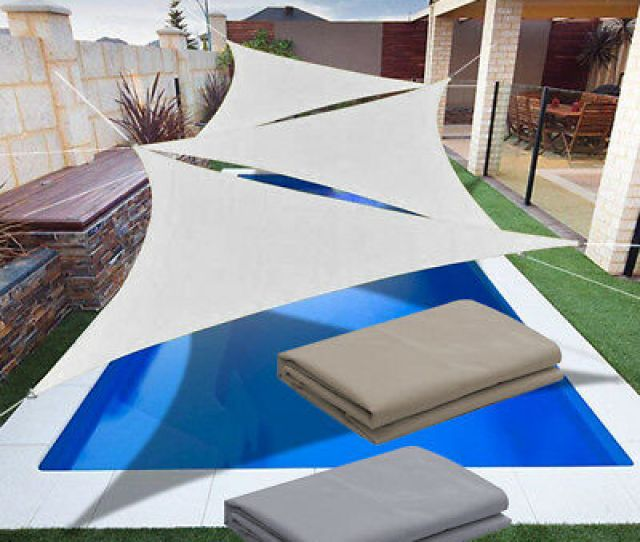 Waterproof Sun Shade Sail Outdoor Canopy Patio Pool Awning Cover