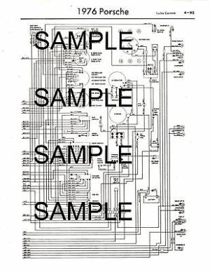 1976 TOYOTA HILUX Pickup 76 Wiring Diagram Guide Chart 76K