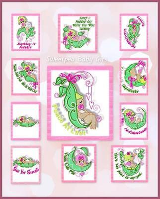 sweet pea embroidery # 67