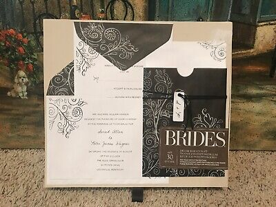 Brides Printable Wedding Invitation Kit Brown White 30