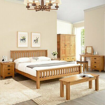 rustic wooden bed frame 4 6 double