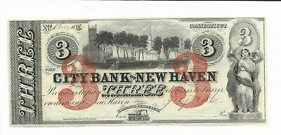 Connecticut Bank Of Nine Haven 18XX Park Forest Choice Cu Red Rev On Printed