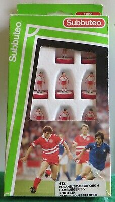 Subbuteo Mp Lw Team Ref 412 Poland,Scarborough, In Original Labelled Box