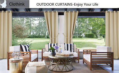 clothink outdoor curtain panel for