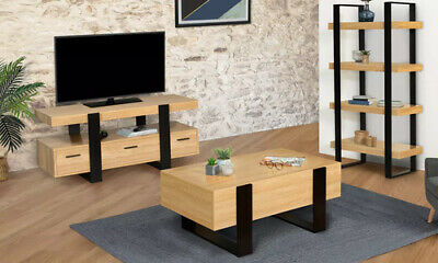 meubles salon table basse meuble tv etageres style industriel ambiance design