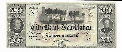 Connecticut Bank Of Nine Haven 18XX Park Forest Choice Cu Red Rev On Print
