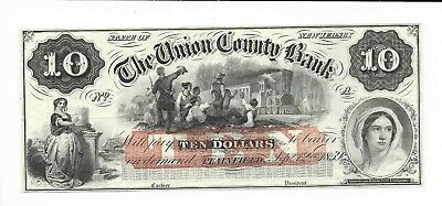 1859 New Jersey Union County Plainfield Bank Plate A Waiting For Train Cu