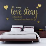 Every Love Story Is Beautiful Wall Sticker Quote Bedroom