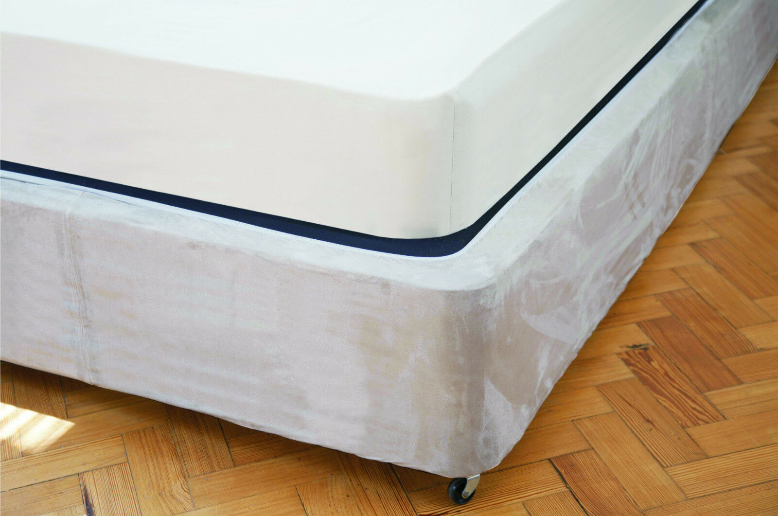 Belledorm Divan Bed Base Wrap Faux Suede Single Double