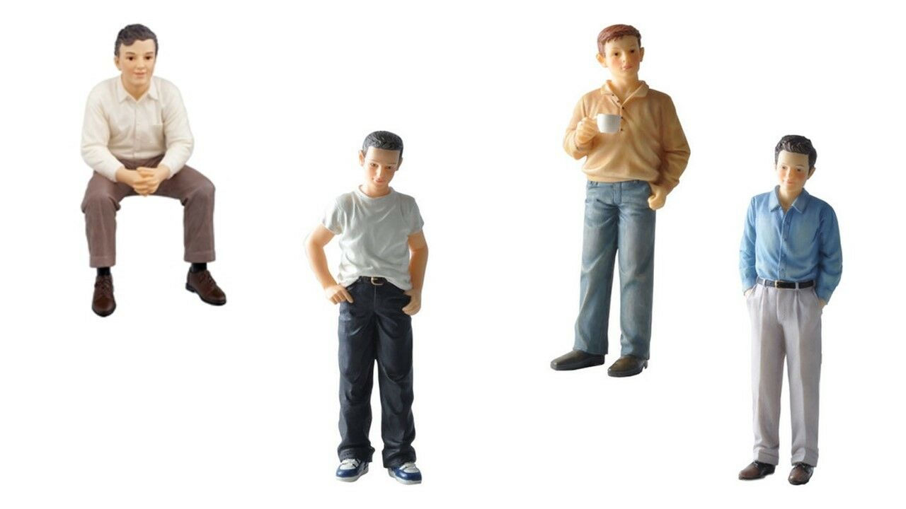 1 12 SCALE DOLLS house miniature resin dolls modern young men 4 to     1 12 scale dolls house miniature resin dolls modern young men 4 to choose