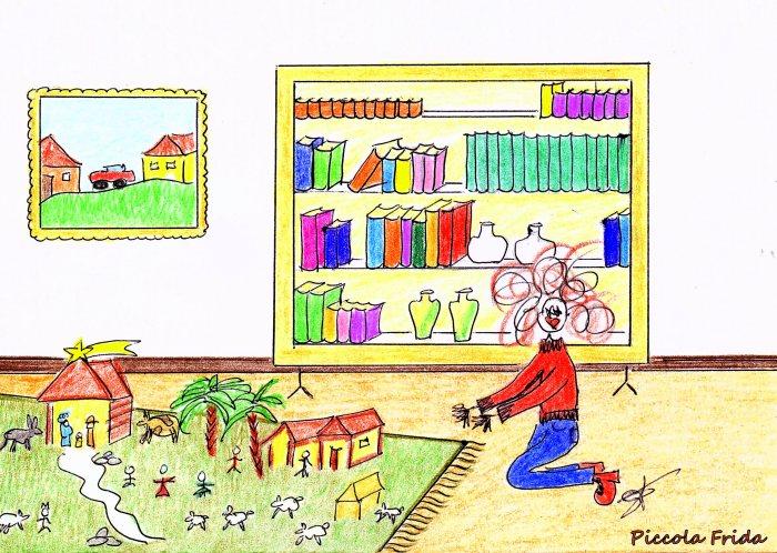 disegno presepe Natale - illustrazione di Susanna Albini