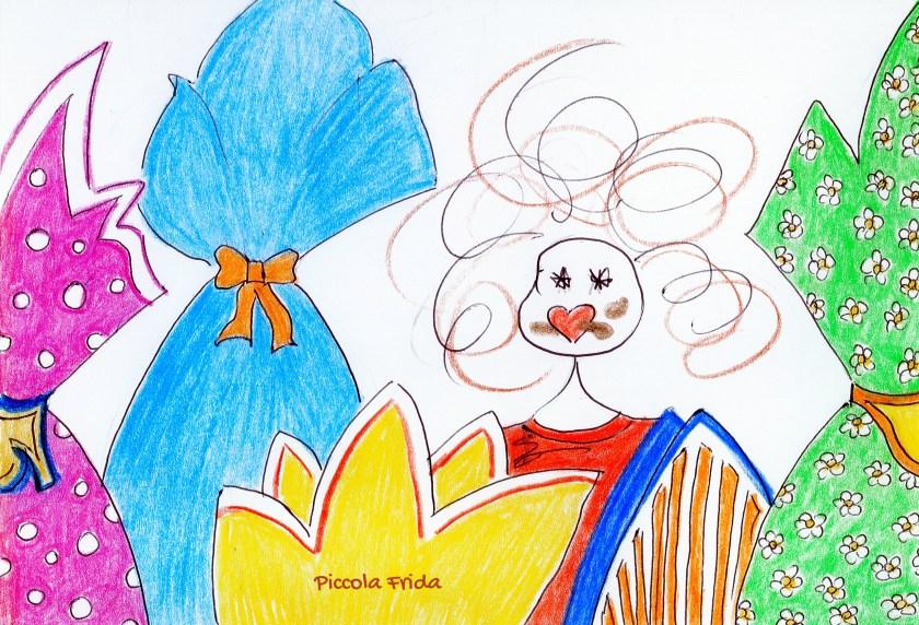 uova di cioccolato - illustrazione a colori