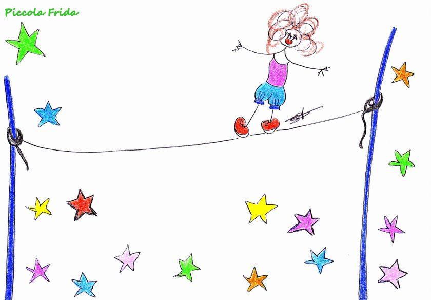 illustrazione circo - equilibrista - disegno di Susanna Albini