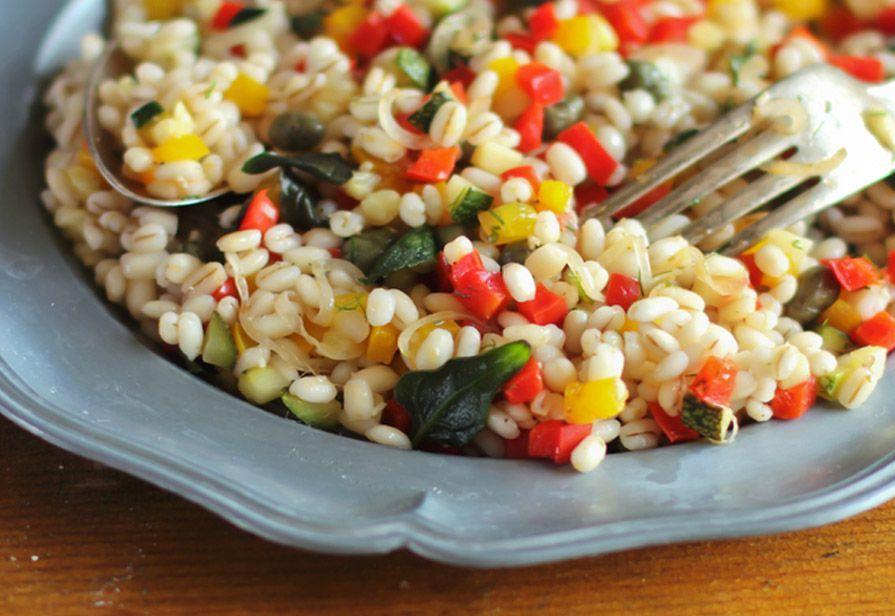 Orzo e verdure grigliate