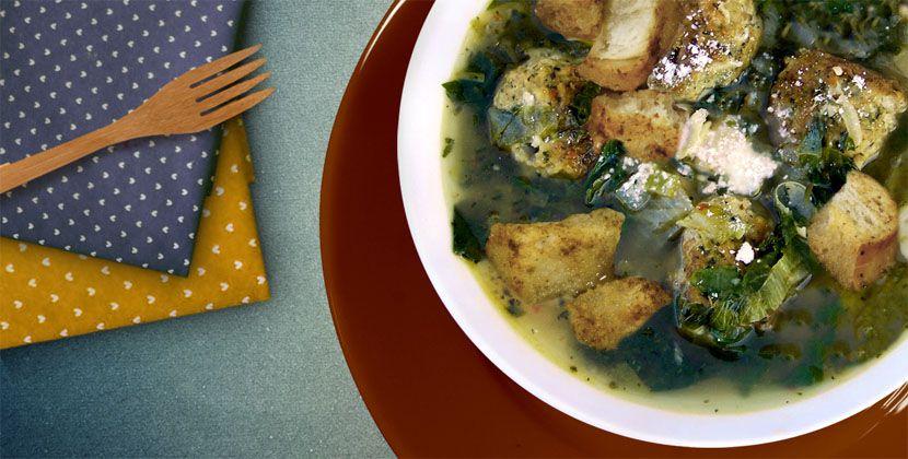 Zuppa agli spinaci