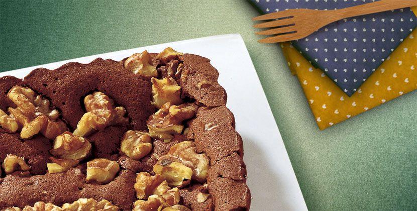 Torta al cioccolato e noci