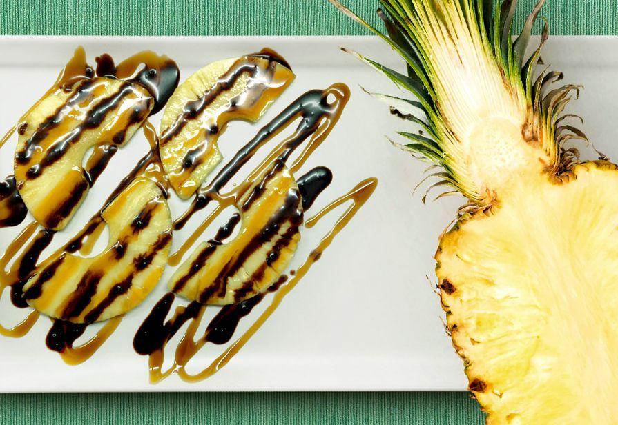 Ananas caramello e cioccolato
