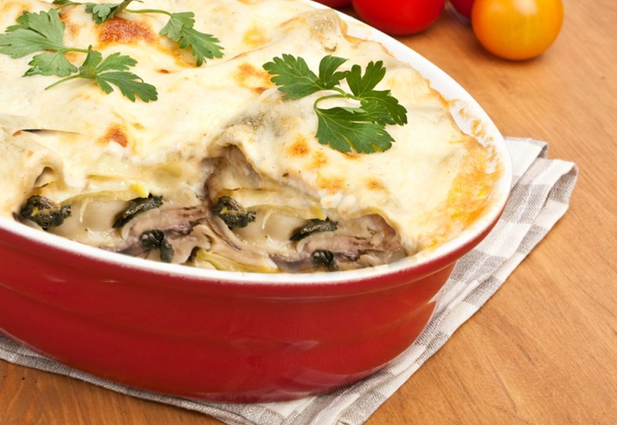 Lasagne vegetariane gustose
