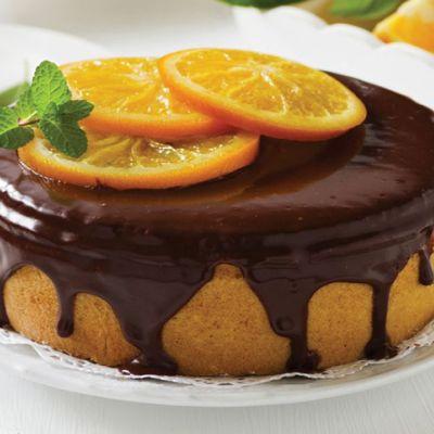 Torta glassata all'arancia