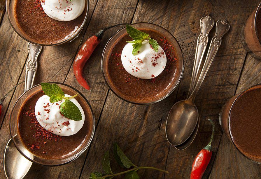 Mousse di cioccolato piccante