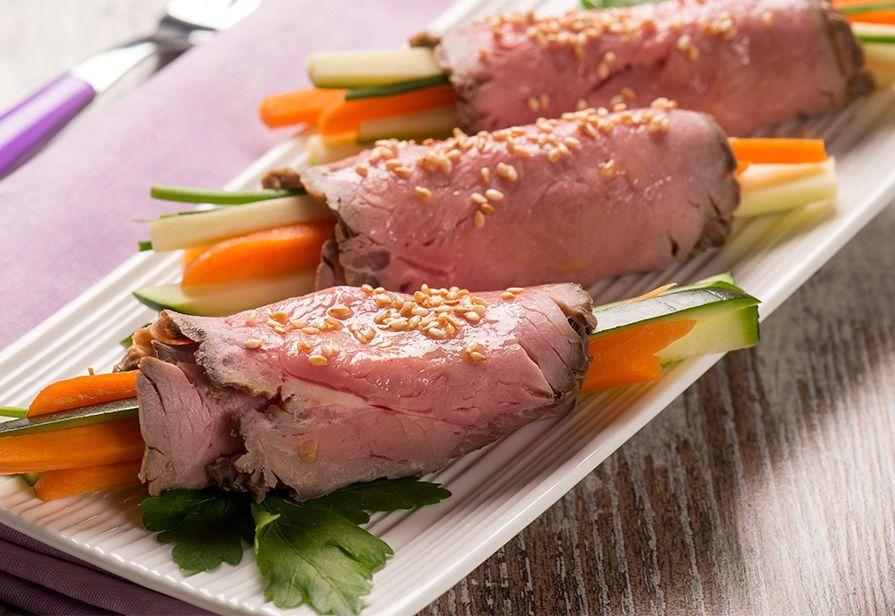 Involtini di roast-beef