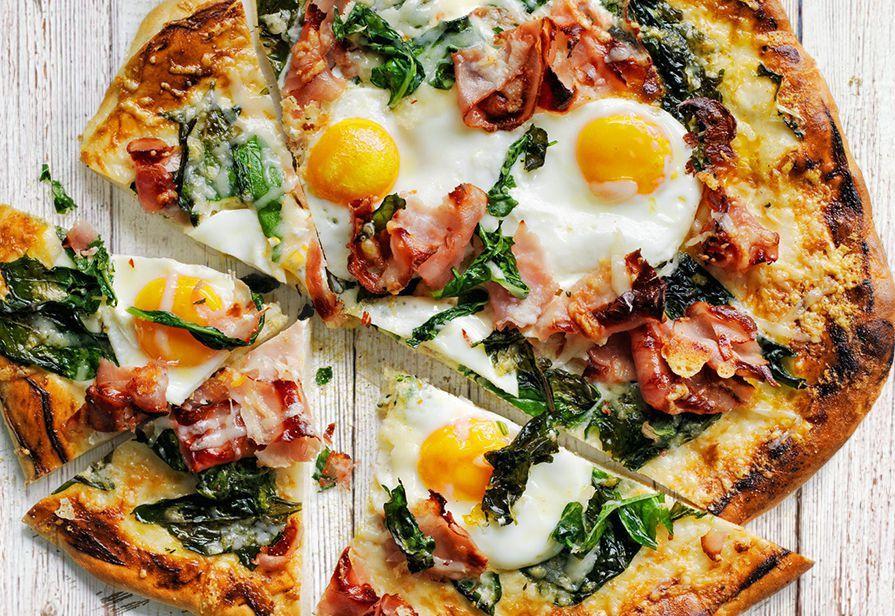 Pizza alle uova