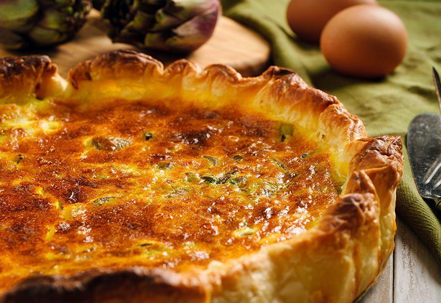 Torta rustica ai carciofi e formaggio