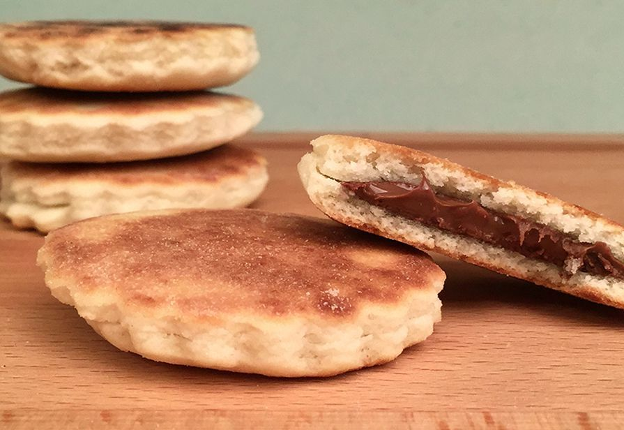 Biscotti in padella alla Nutella