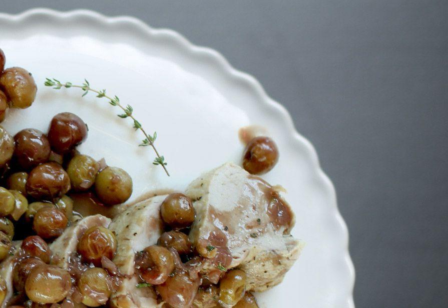 Arista in salsa d'uva