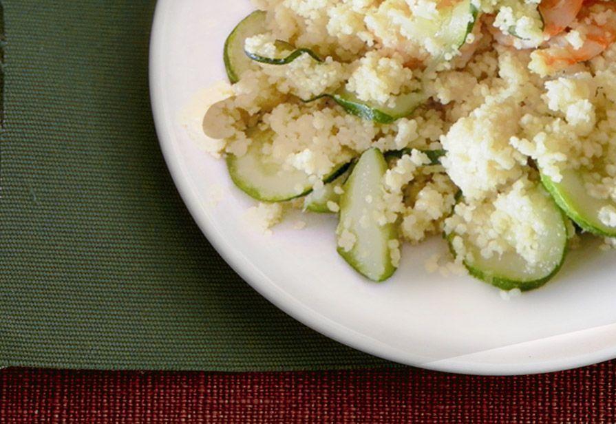 Couscous zucchine e gamberetti