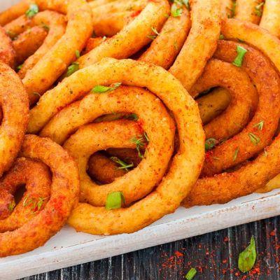 Spirali di patate alla paprica