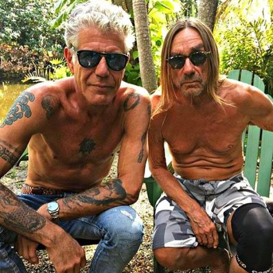 Anthony Bourdain con Iggy Pop