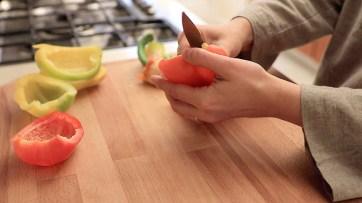 Mondare i peperoni
