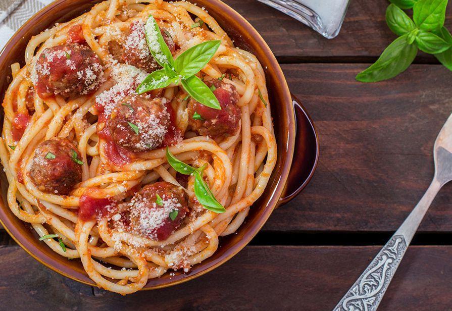 Spaghetti con le polpettine