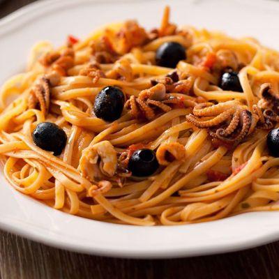 Linguine polipetti e olive
