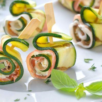 Rotolini di zucchine al prosciutto