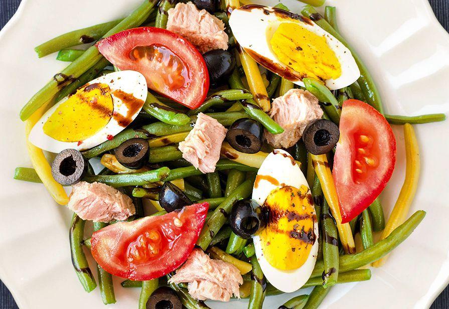 Fagiolini con le uova