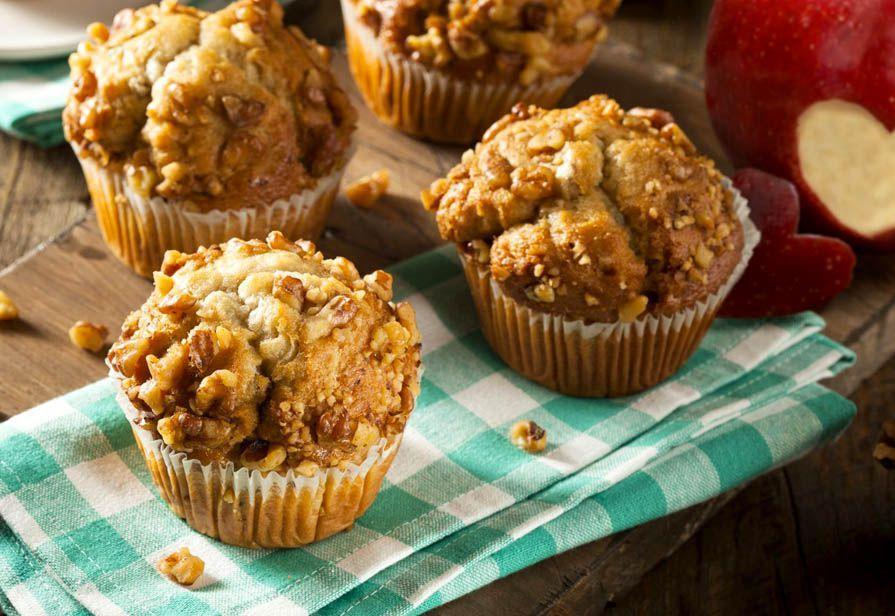 Ricetta Muffin Di Mele.Ricetta Muffin Alle Mele E Noci La Ricetta Di Piccole Ricette