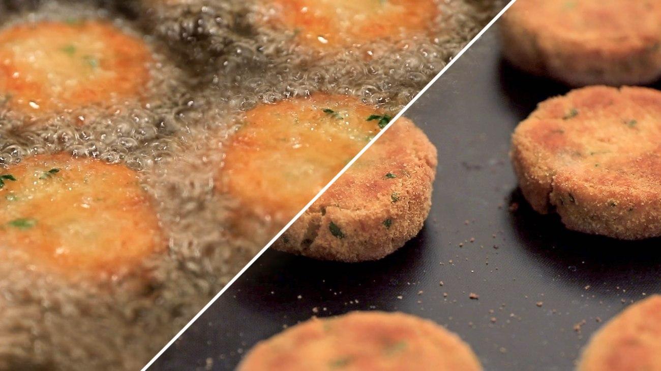 Sostituire la frittura con il forno