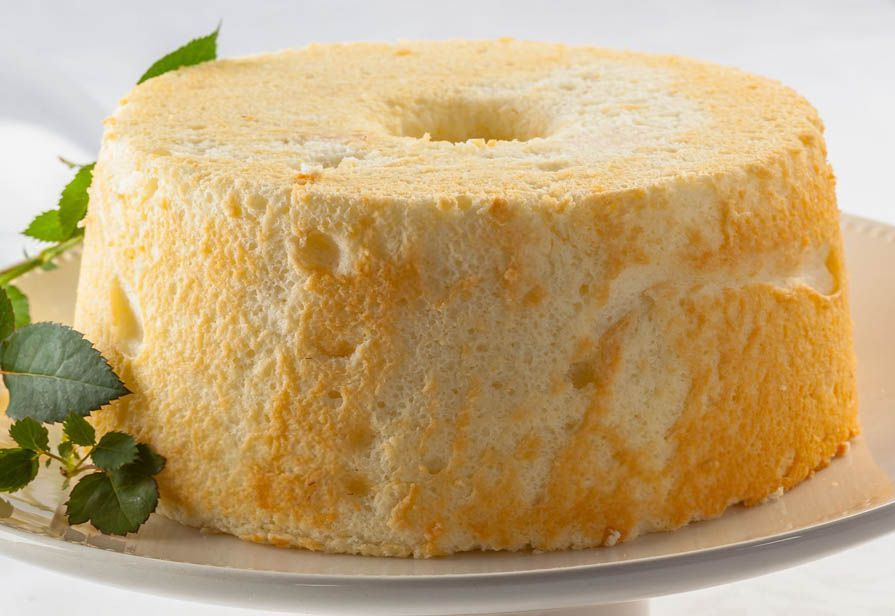 Angel food cake al limone
