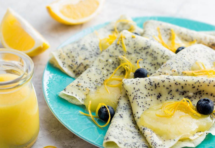 Poppy seed crepes