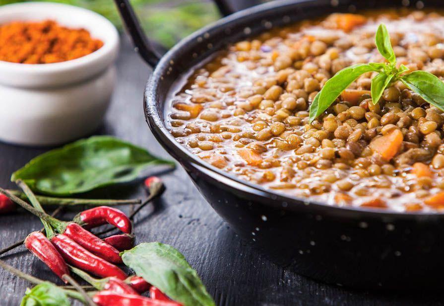 Zuppa piccante di lenticchie