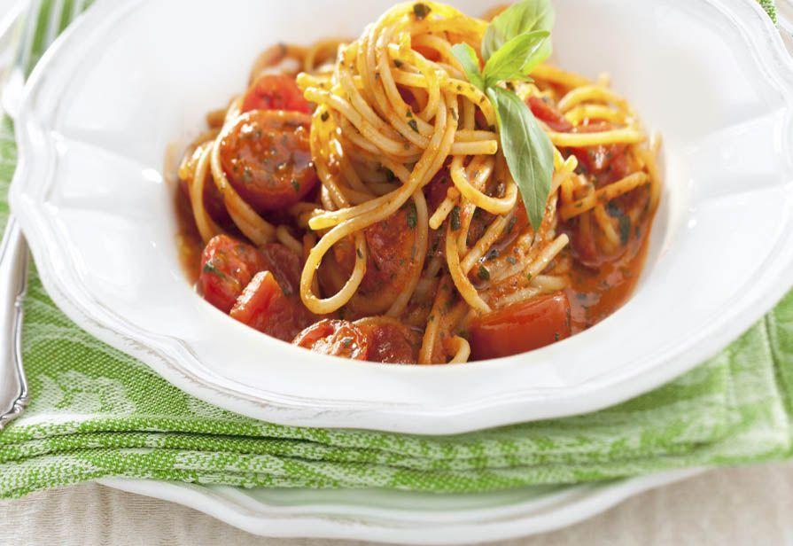 Spaghetti ai pomodorini ed erbe