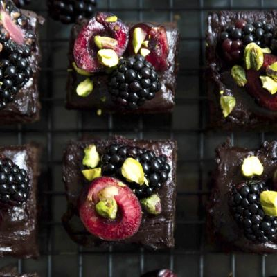 Brownies ai frutti di bosco