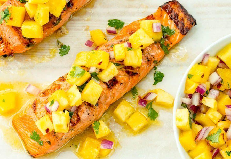 Salmone all'ananas