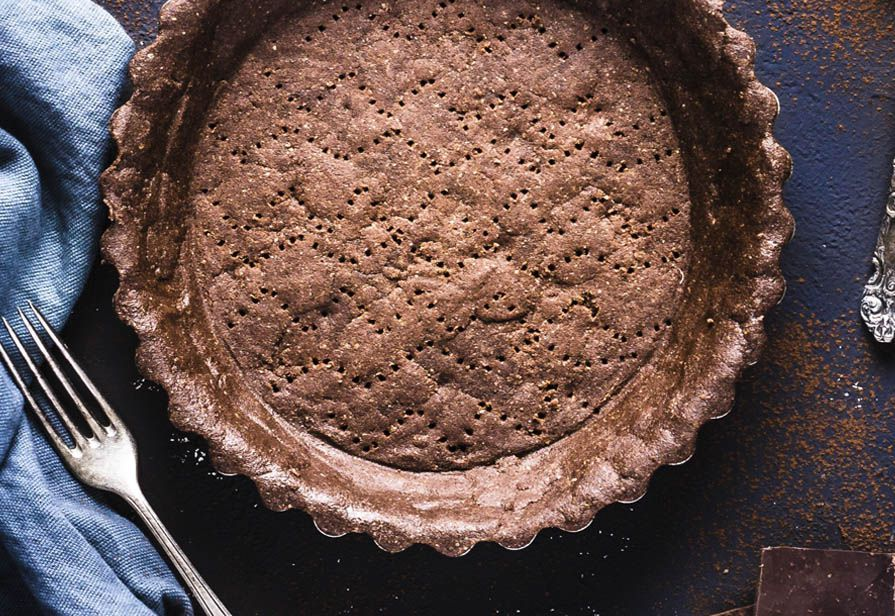 Pie crust al cacao