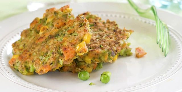 Frittelle di piselli e carote
