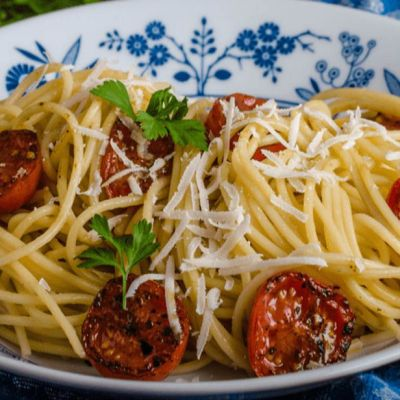 Spaghetti ai pomodorini confit