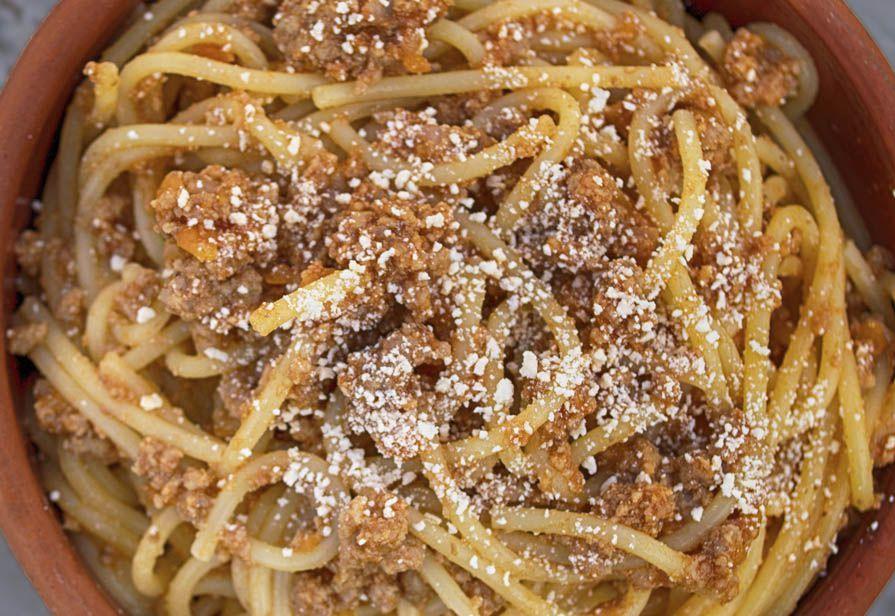 Spaghetti alla salsiccia piccante