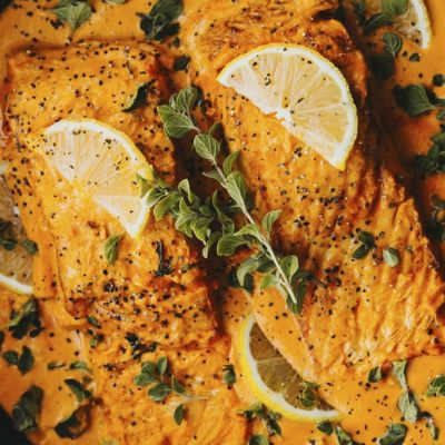 Salmone al curry thai